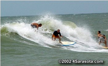 Surfers at Nokomis Beach ©2002